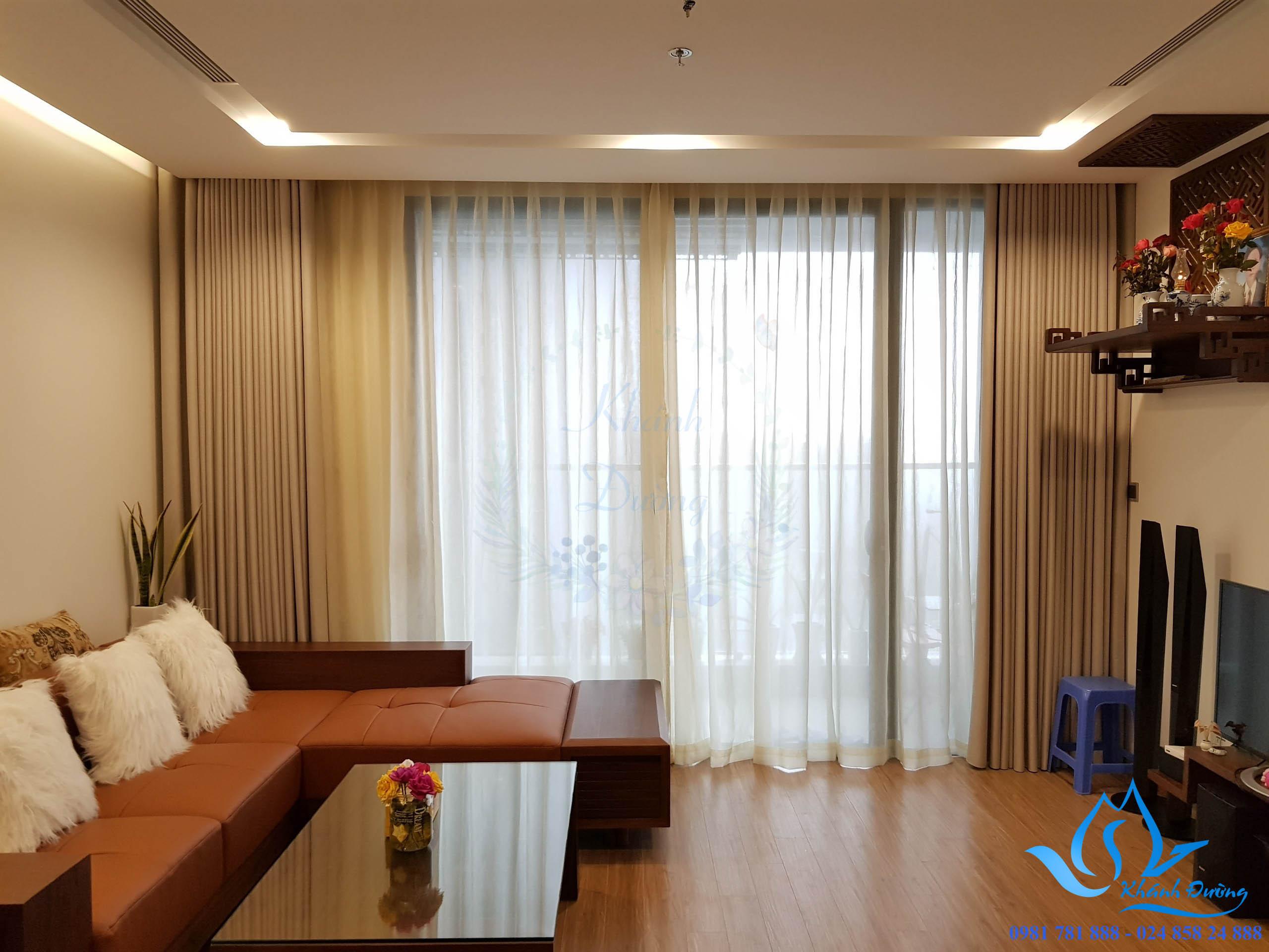 Rèm được lắp tại căn hộ nhà chị Mai - 12A06 tòa M3 Vincom Liễu Giai