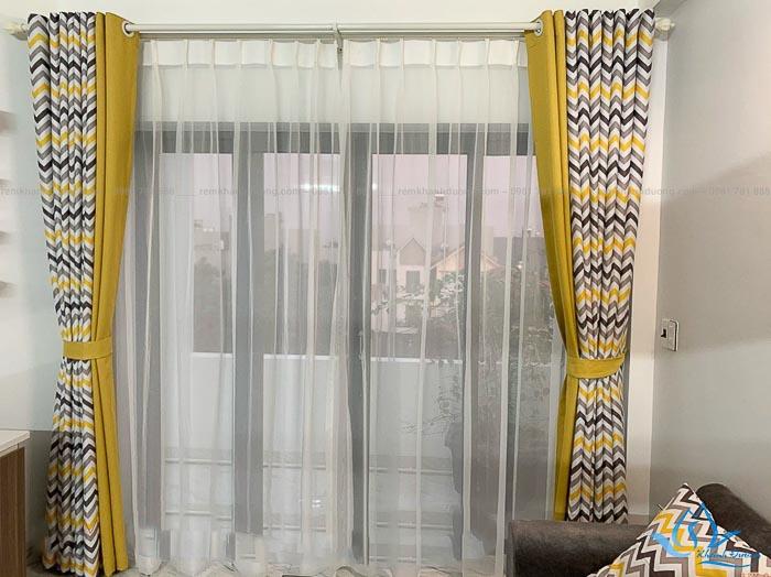 Rèm vải hai lớp đẹp cho chung cư
