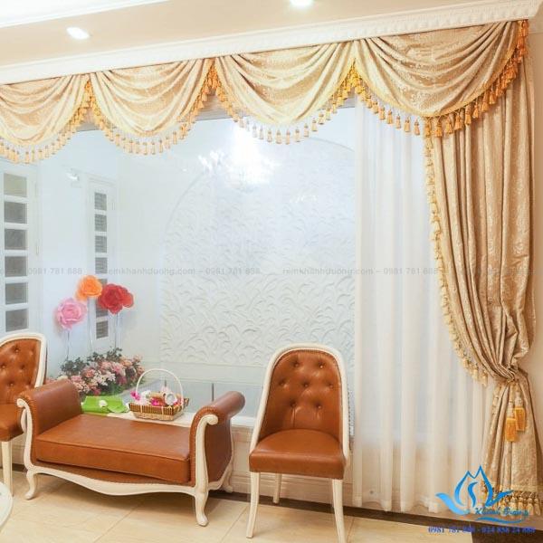 Rèm vải Hàn Quốc ấn tượng tại biệt thự Dương Nội, Hà Đông KD 04