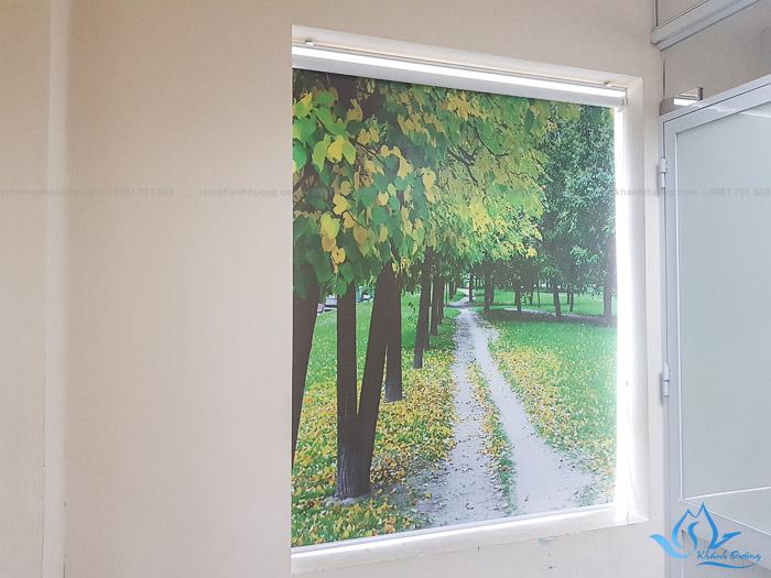 Rèm cuốn in tranh 3D đem tới vẻ đẹp ấn tượng cho văn phòng hiện đại phố Cầu Giấy, Hà Nội