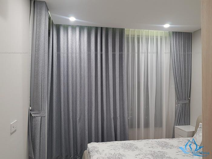 Rèm vải Hàn Quốc đẹp cho phòng ngủ chống nắng