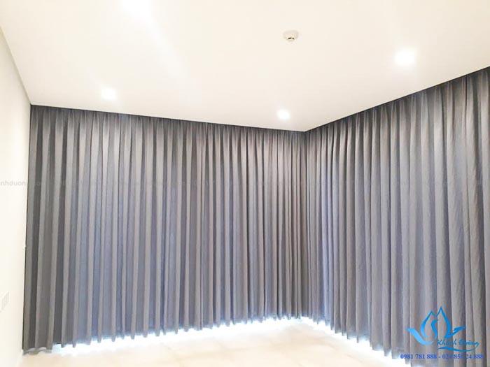 Rèm vải 1 lớp cho cửa kính lớn rộng