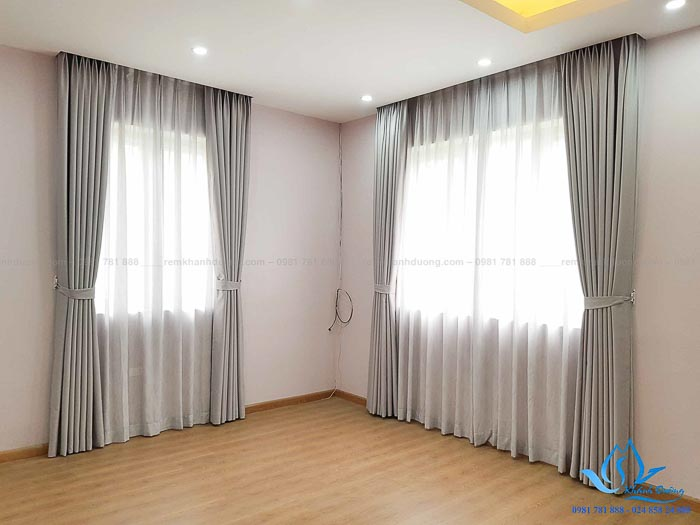 Mẫu rèm vải cho phòng ngủ đẹp chống nắng tốt 1