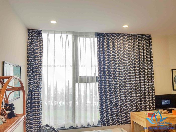 Mẫu rèm vải cho phòng ngủ đẹp chống nắng tốt 4