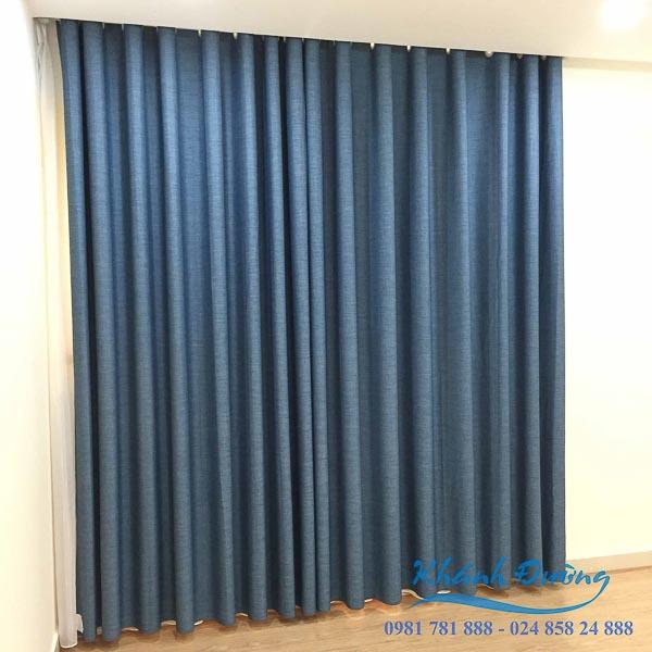 Rèm vải 1 lớp màu xanh dương đẹp nhất
