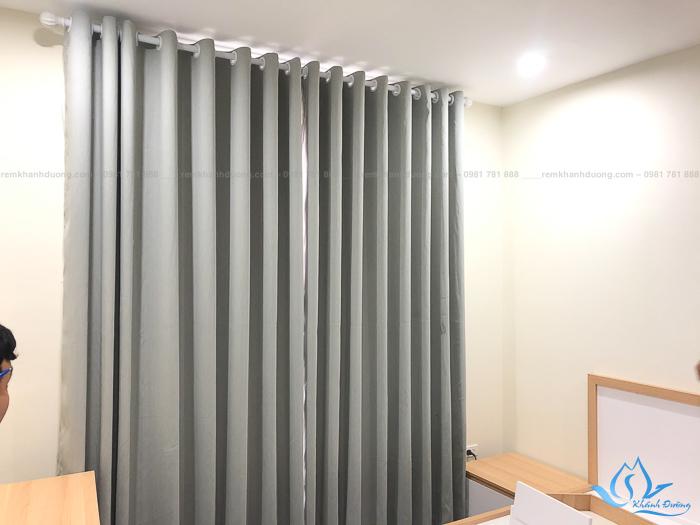 Rèm vải 1 lớp cho phòng ngủ tại chung cư Roman Plaza