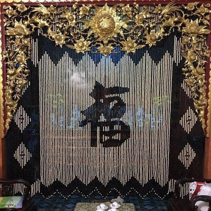 Rèm hạt gỗ cho không gian trang nhã, cổ kính