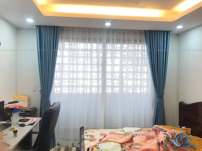 Mẫu rèm vải cho phòng ngủ đẹp chống nắng tốt 11