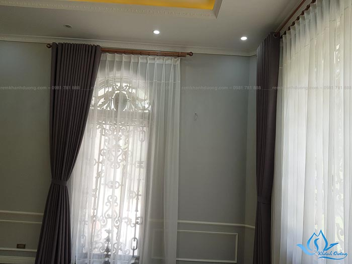 Lắp Đặt Rèm Vải Biệt Thự Ở Đồng Trúc, Thạch Thất