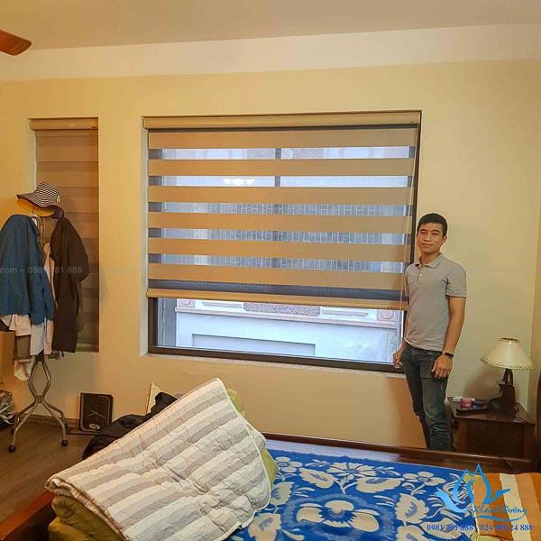 Rèm cửa có màu với tường là lựa chọn tốt nhất cho phòng ngủ nhỏ