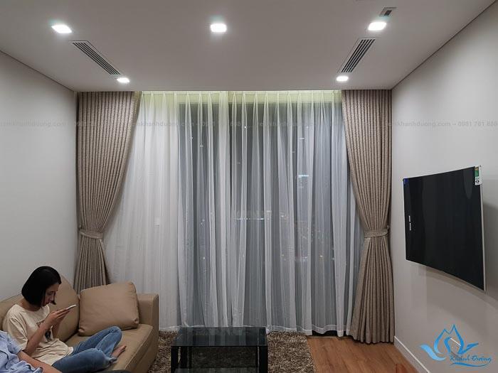 Rèm vải 2 lớp Hàn Quốc đẹp tại chung cư Legend – Thanh Xuân