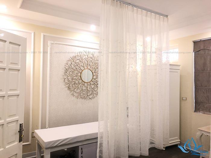 Rèm vải 1 lớp voan cho ngăn giường spa đẹp nhất