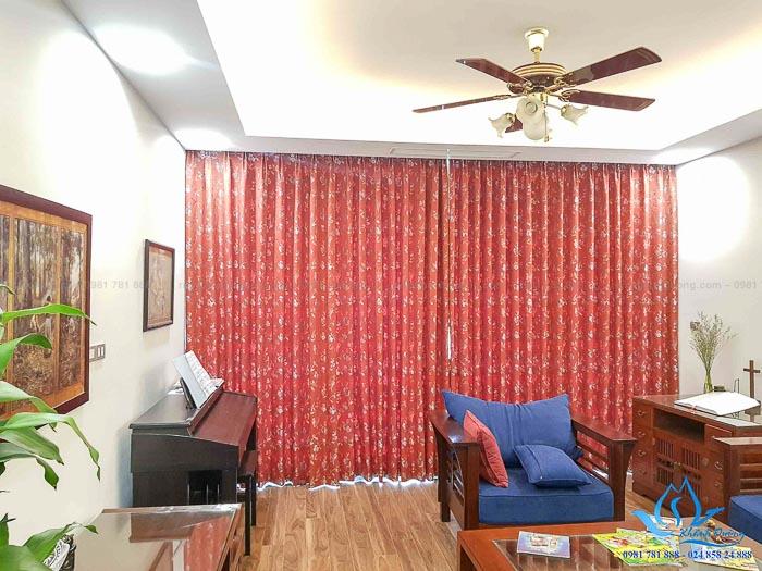 Rèm vải Nhật cao cấp cho phòng khách