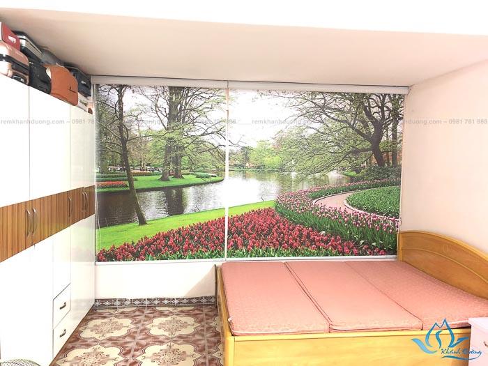 Rèm cuốn tranh phong cảnh bền đẹp tại Ba Đình