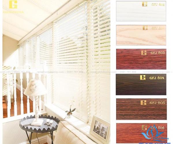 Bộ sưu tập rèm gỗ giá rẻ hãng Goldsunvina GFJ 801-GFJ 806 tại Hà Nội
