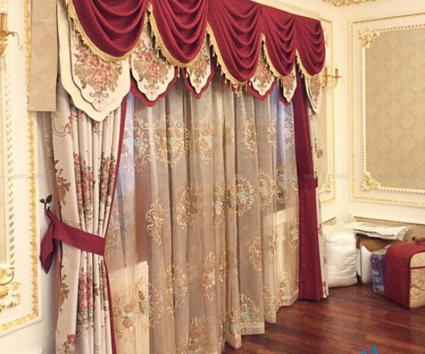 Chiêm ngưỡng rèm vải tân cổ điển đẹp cho biệt phủ tại Long Biên CĐ-06