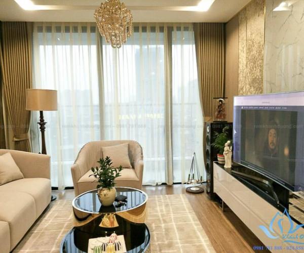 Chọn rèm vải cao cấp sang trọng cho phòng khách tại Liễu Giai TM-75-15