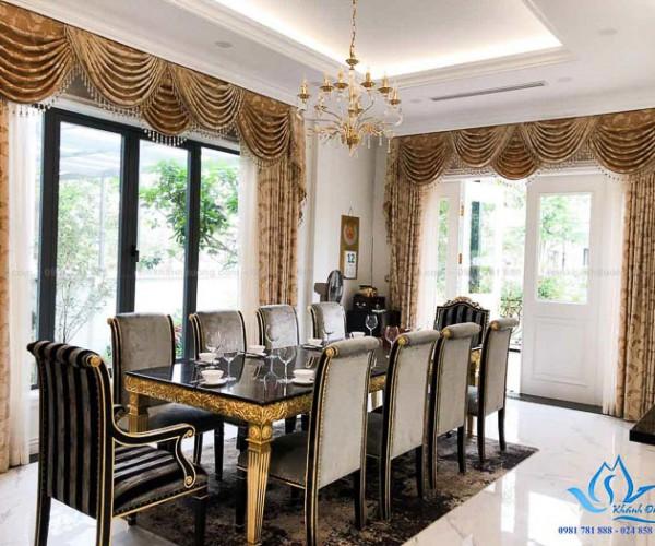Giới thiệu mẫu rèm cổ điển cho biệt thự Vinhome Sài Đồng, Hà Nội KD02