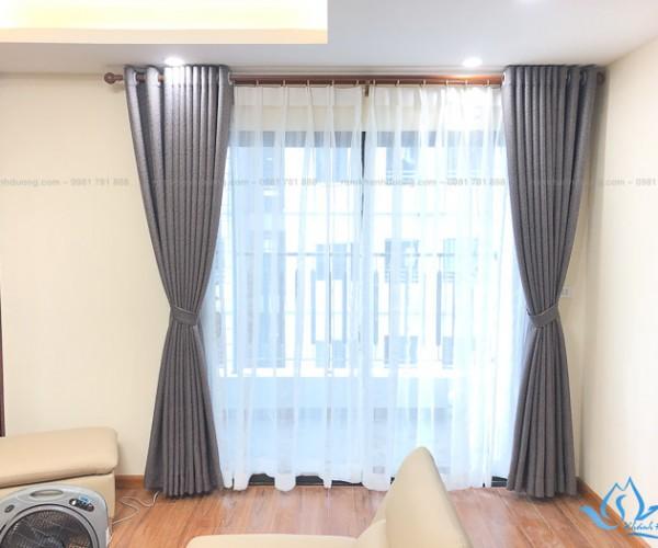 Lắp đặt rèm vải Hàn Quốc chống nắng khu Ngoại Giao Đoàn, Hà Nội RH01