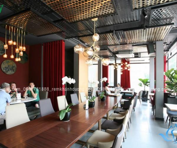 Lựa chọn rèm cửa cho quán cafe hiện đại Phan Chu Trinh, Hà Nội RH 06