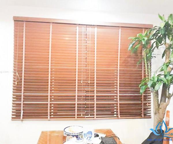 Màn sáo gỗ sồi SKK 18 tại căn hộ Vinhome Times City Hai Bà Trưng