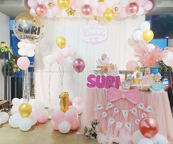 Mẫu rèm trang trí sinh nhật cho bé yêu tại Vincom Phạm Hùng