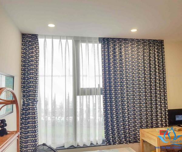 Mẫu rèm vải đẹp cản nắng phòng bé trai chung cư Tây Hồ, Hà Nội A57152