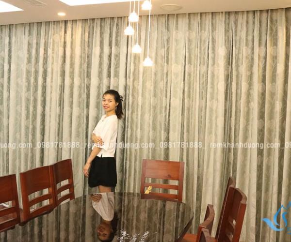 Mẫu rèm vải hai lớp sang trọng nhất phố Hàm Nghi, Hà Nội RV 05