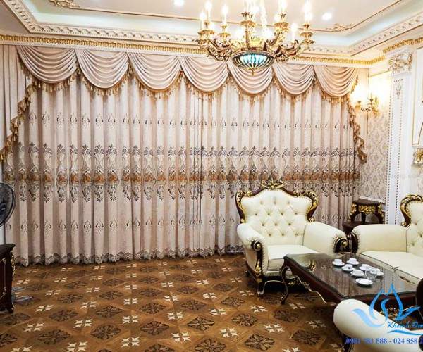 Rèm cổ điển đẹp dành cho phòng khách tại Thành Công, Quận Ba Đình HN91
