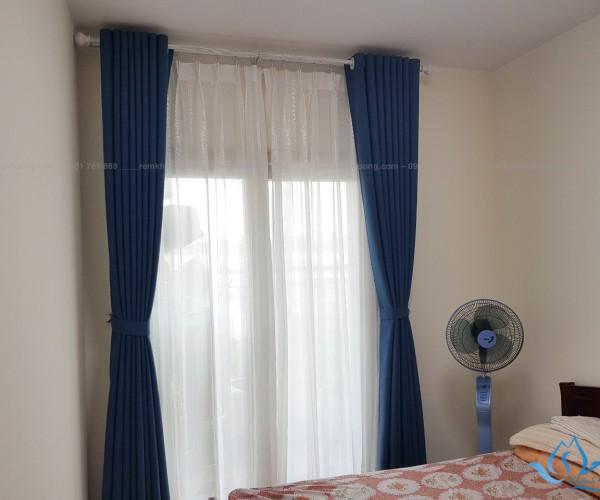 Rèm cửa 2 lớp giá rẻ tại chung cư Booyoung mã HP-12