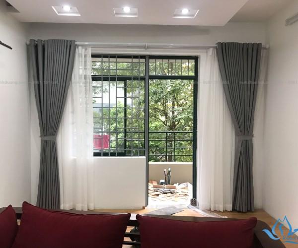 Rèm cửa hai lớp sang trọng PD 10 ở chung cư An Lạc, Nam Từ Liêm