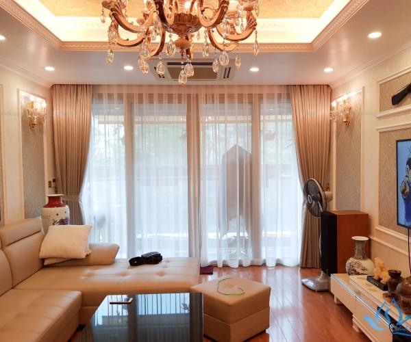 Rèm cửa vải cao cấp in hoa văn GP 018 tại tòa Mandarin
