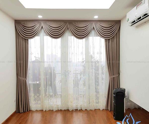 Rèm cửa vải Hàn voan thêu hoa cổ điển Mỹ Đình Plaza, Hà Nội DOICE10