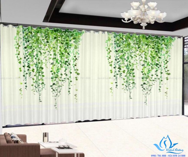 Rèm cửa vải in tranh 3D hình nhẹ nhàng tại Trích Sài, Hà Nội RT27