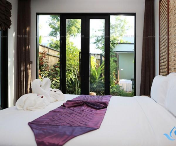 Rèm cửa vải spa cao cấp màu nâu tại Phan Đình Phùng, Hà Nội SP-33