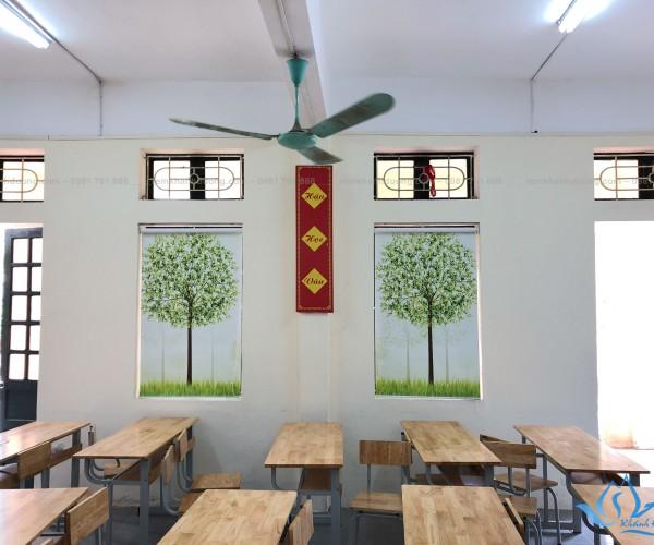 Rèm cuốn in tranh cho trường tiểu học đẹp nhất tại Hà Nội