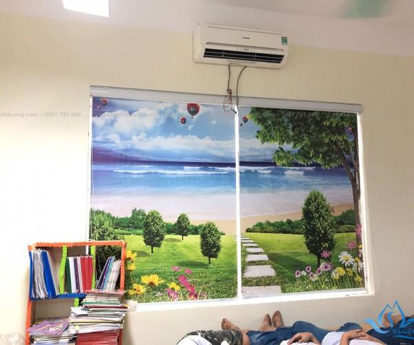 Rèm cuốn tranh phong cảnh cho lớp học đẹp nhất tại Cầu Giấy Hà Nội