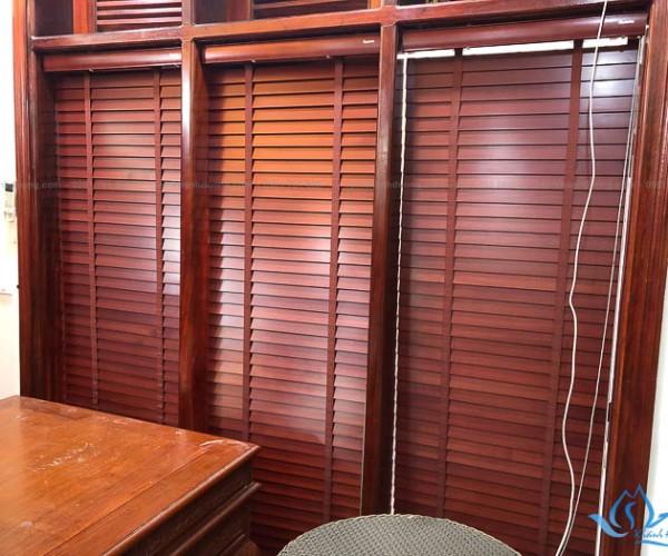 Rèm gỗ cao cấp đẹp sang trọng tại KĐT Xala, Hà Nội MSJ 305