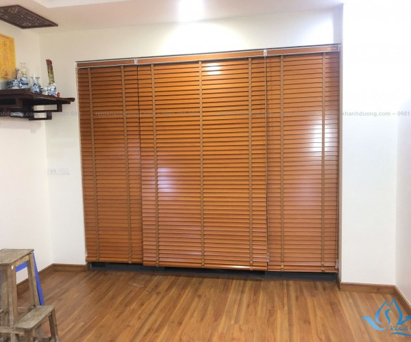 Rèm gỗ cửa ra vào chống nắng chung cư quận Nam Từ Liêm MSJ 007