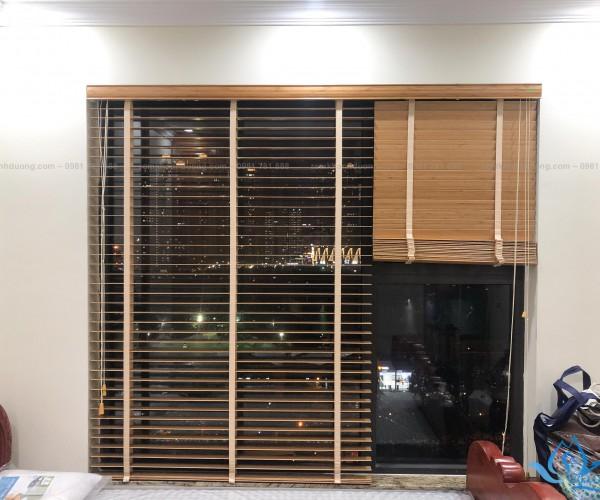 Rèm gỗ tùng đẹp cao cấp tại chung cư Việt Đức Complex Thanh Xuân