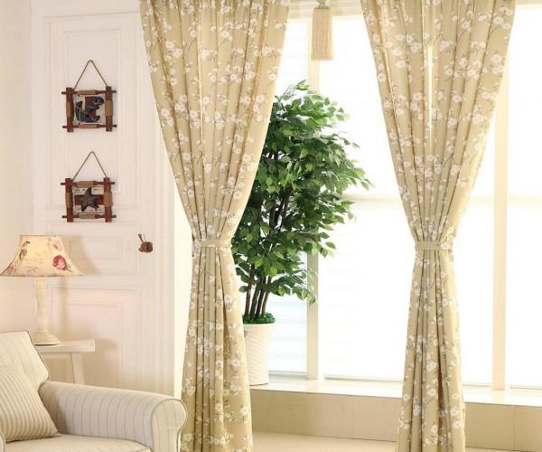 Rèm vải họa tiết cao cấp tại chung cư Hà Đông, Hà Nội HH-023