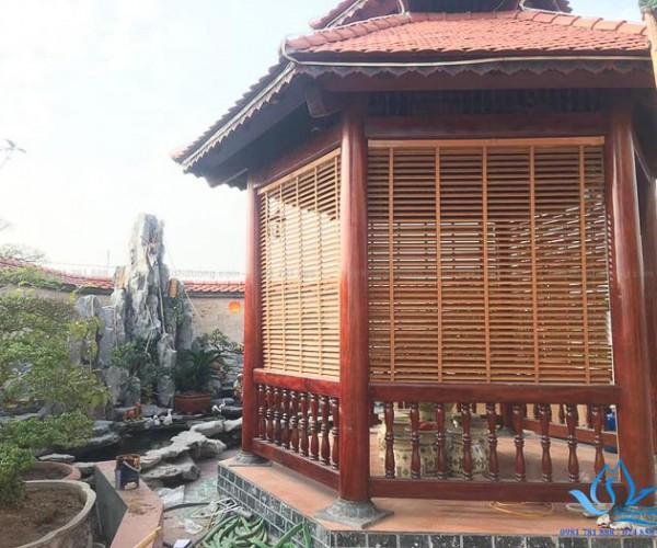 Rèm nhựa giả gỗ MSJ 504 nhà thờ tổ huyện Quốc Oai – Hà Nội