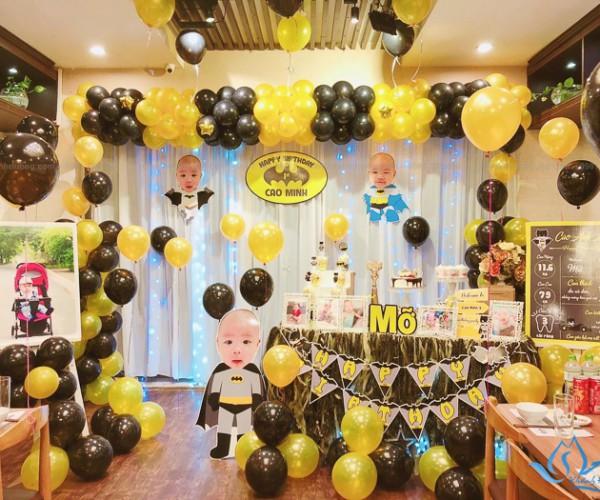 Rèm trắng trang trí sinh nhật mới nhất tại Thái Hà - Láng Hạ