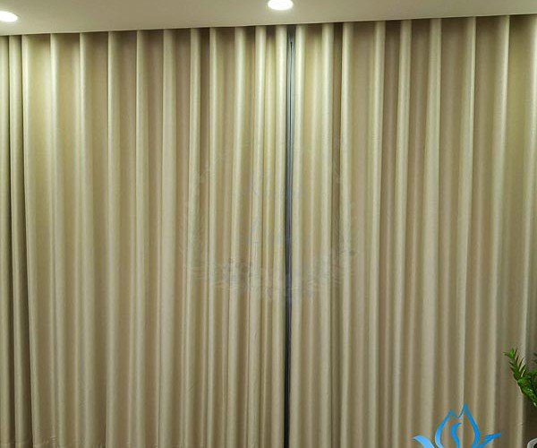 Rèm vải 2 lớp cản nắng cao cấp phòng khách Long Biên, Hà Nội L18-29