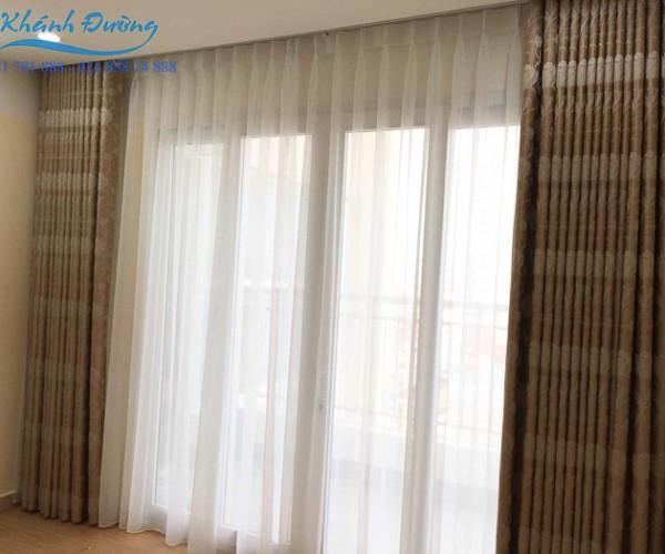 Rèm vải cản nắng 2 lớp sang trọng cho chung cư An Bình, Mỹ Đình L18-23