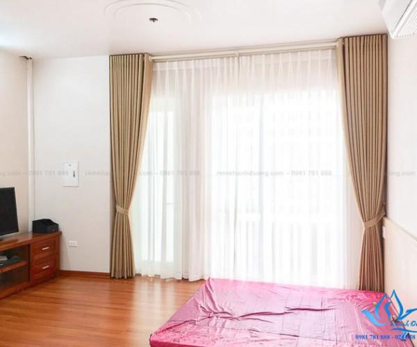 Rèm vải cản nắng cao cấp cho phòng ngủ Khâm Thiên, Hà Nội TM 886-15