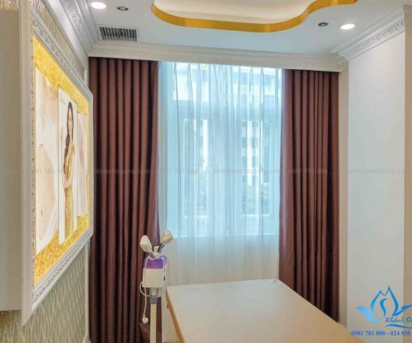 Rèm vải cản nắng giá rẻ sang trọng thẩm mỹ viện Hà Đông, Hà Nội GP568