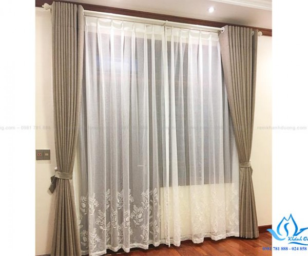 Rèm vải chống nắng biệt thự cao cấp KĐT Xuân Phương, Hà Nội B-07-M13