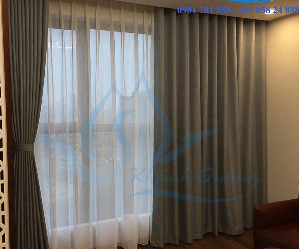 Rèm vải cửa sổ cản nắng ấn tượng cho phòng khách tại Ba Đình TM1606-25
