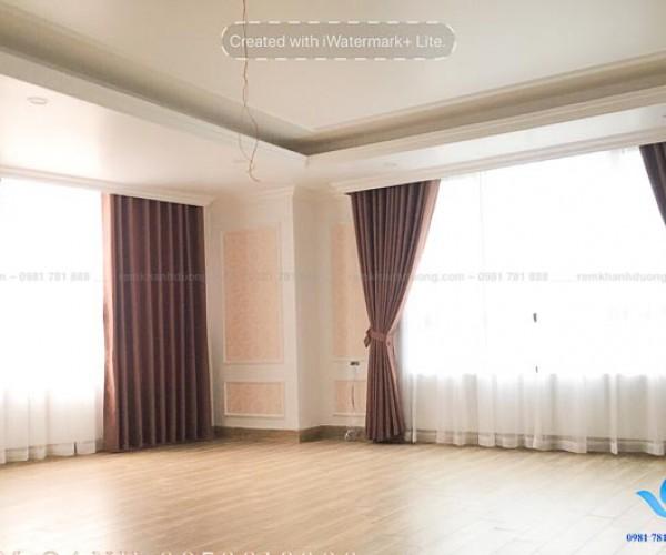 Rèm vải cửa sổ chống nắng nhà hướng Tây KĐT Ciputra Nam Thăng Long G18